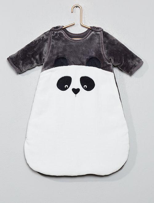 Gigoteuse chaude manches amovibles                                         gris/panda