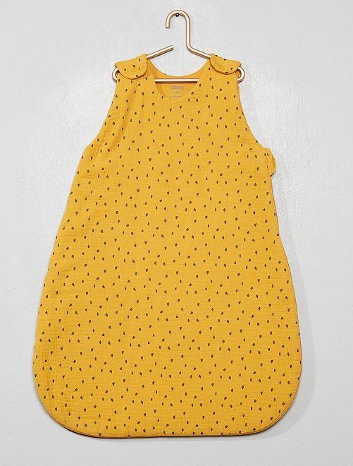 Gigoteuse douillette à motifs                                         jaune/gris
