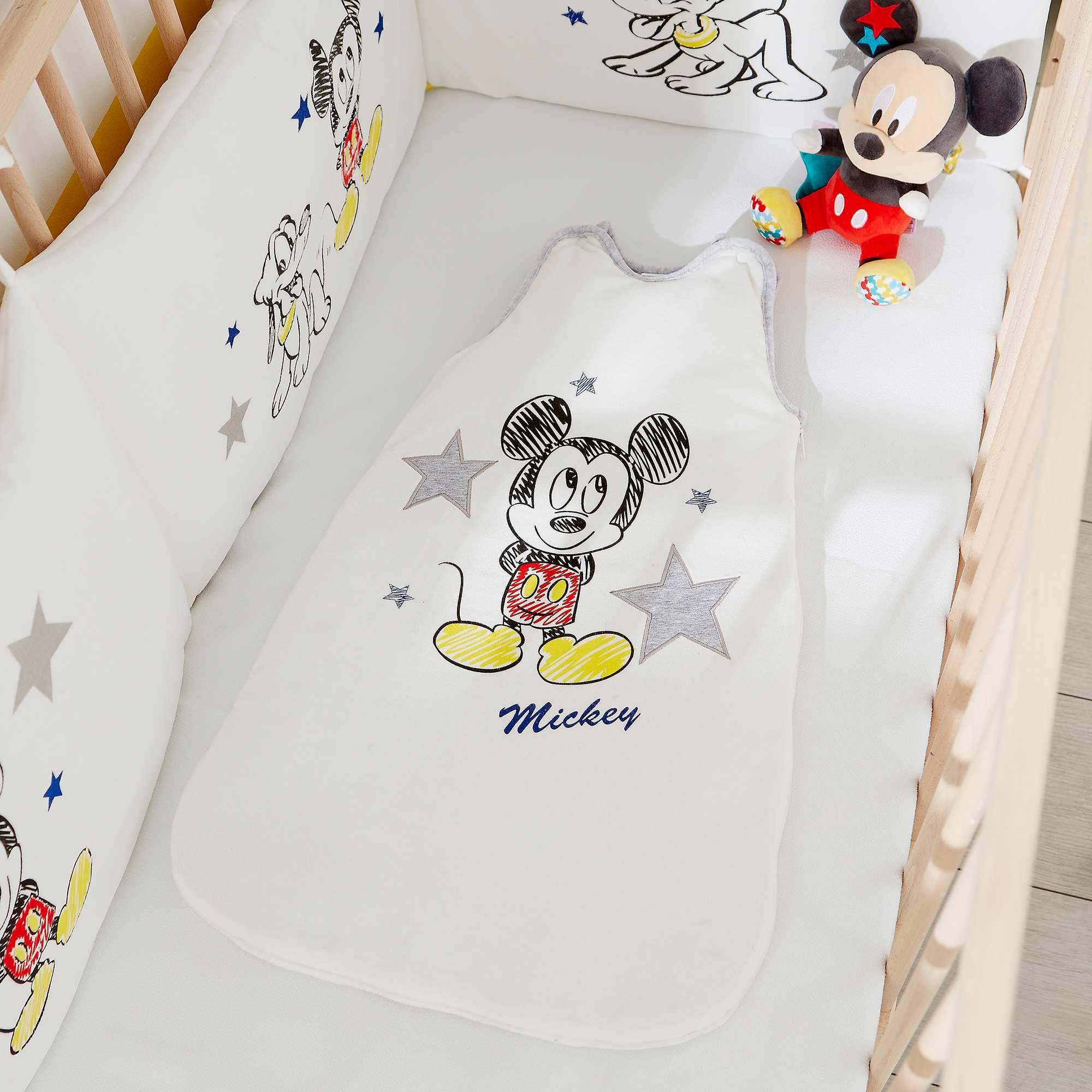 Couleur : Mickey, , ,, - Taille : 0/6M, 6/24M, ,,Au dodo avec 'Mickey' ! - Gigoteuse 'Disney' chaude en velours - TOG 4 - Doublure