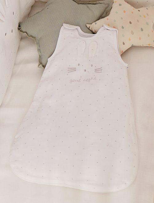 Gigoteuse légère en lange pur coton                             blanc