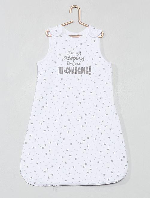 55e384a078454 Gigoteuse légère  étoiles  Bébé fille - blanc.