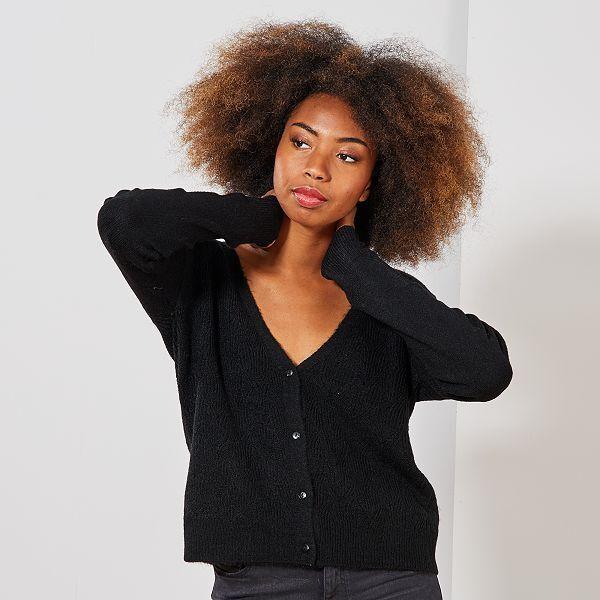 différemment pas cher hot-vente dernier Gilet 2 en 1 ajouré Femme - noir - Kiabi - 15,00€