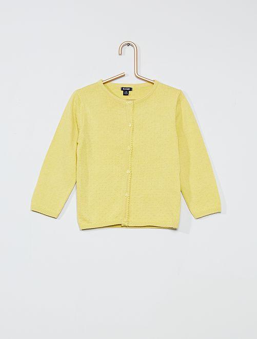 Gilet à plumetis                                                                             jaune/vert