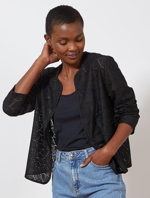 Gilet ajouré 'JDY'                     noir Femme
