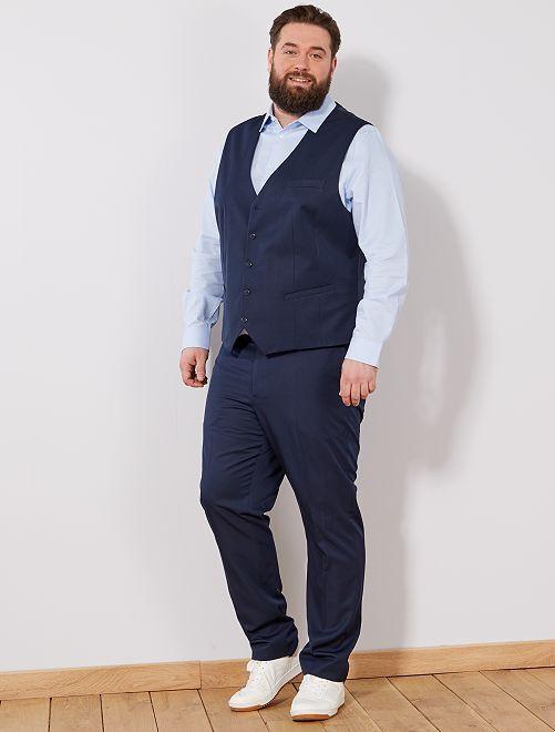 Gilet de costume                     bleu marine Grande taille homme