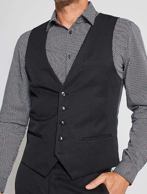 Gilet de costume slim                                         noir Homme