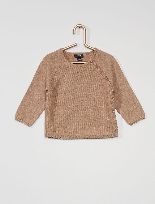 Gilet éco-conçu                                         marron
