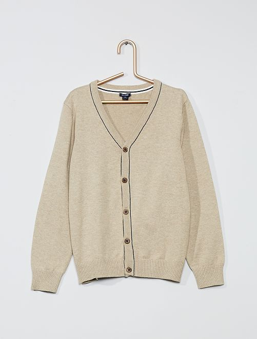 Gilet en coton éco-conçu                                         beige