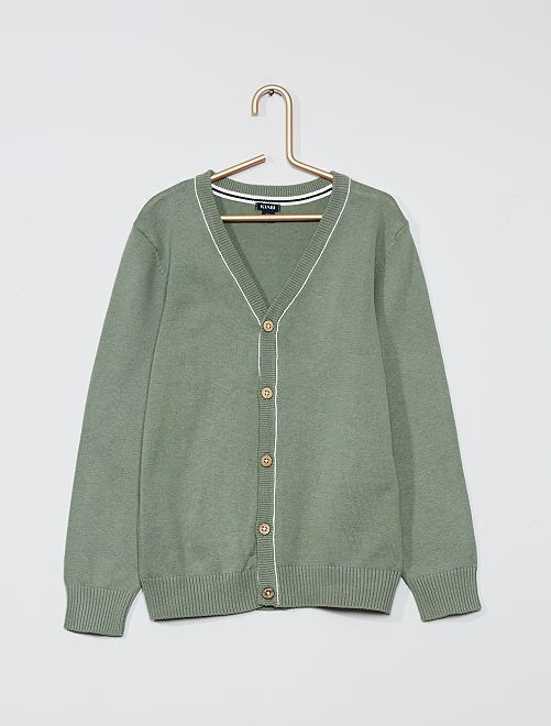 Gilet en coton éco-conçu                                                     vert