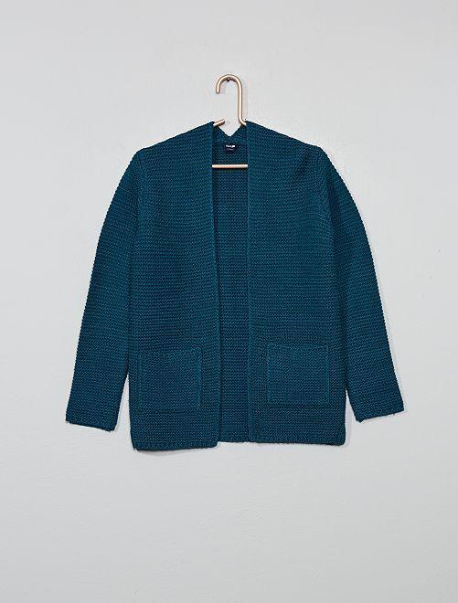 Gilet en maille tricot                                                                 bleu