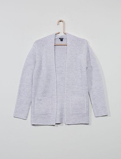 Gilet en maille tricot                                                                 gris Fille