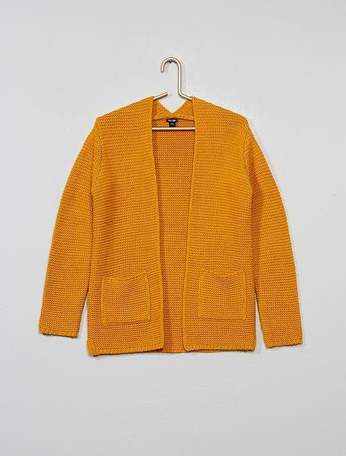 Gilet en maille tricot                                                                 jaune Fille