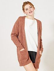 Gilet en maille tricot