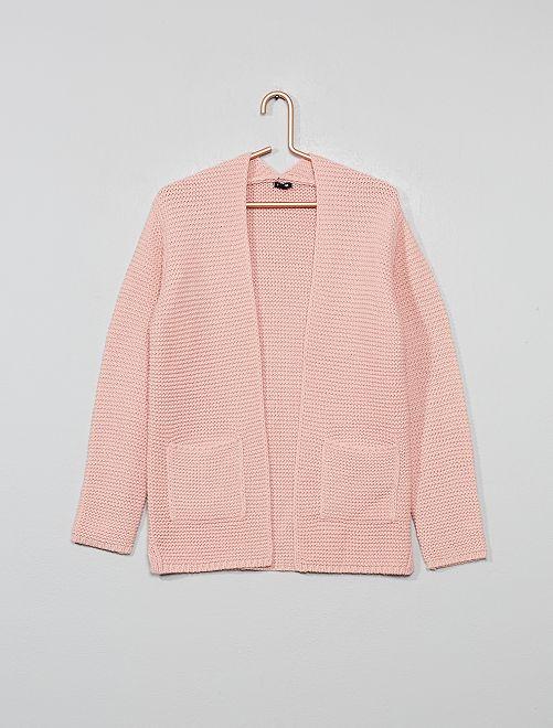 Gilet en maille tricot                                                                 rose Fille