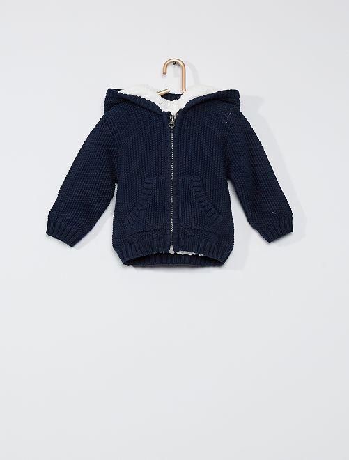 Gilet en tricot à capuche 'oreilles'                                                     bleu marine