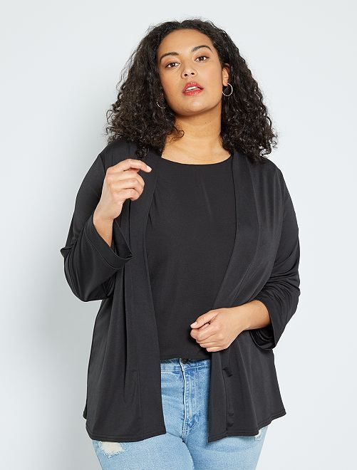 Gilet kimono                                         noir