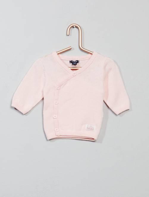 Gilet léger 'éco-conception'                                         rose Bébé fille