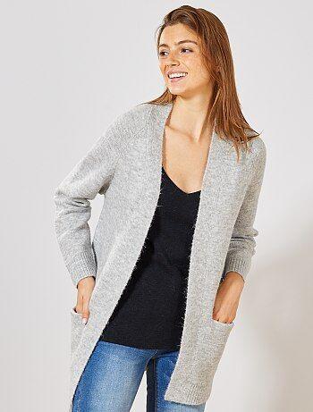 9bbee7493 Gilet Vêtements femme   gris   Kiabi