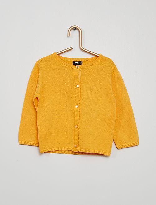 Gilet maille fine                                                                                                         orange
