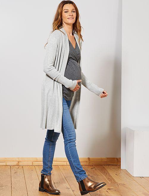 Gilet maternité à pans                                         gris