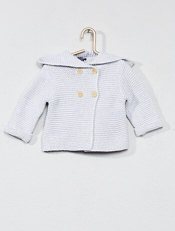 Gilet point mousse coton bio - Kiabi