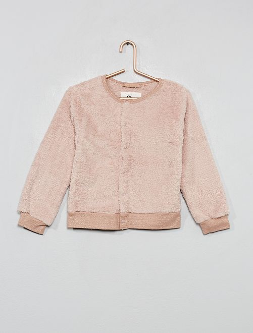 Gilet style bomber maille doudou                                         rose