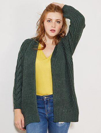 Gilet femme laine noir