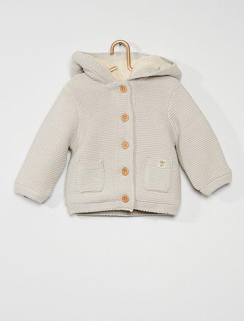 Gilet tricot à capuche                                                                 gris