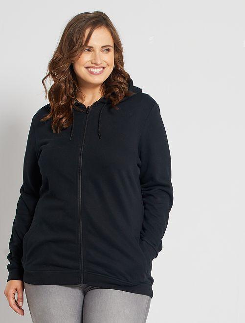 Gilet zippé éco-conçu                                                                                         noir
