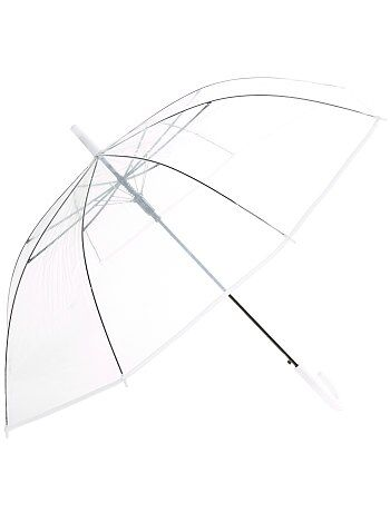 Grand parapluie transparent - Kiabi
