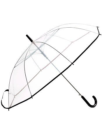 Grand parapluie transparent