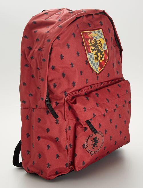 Grand sac à dos 'Harry Potter'                             bordeaux