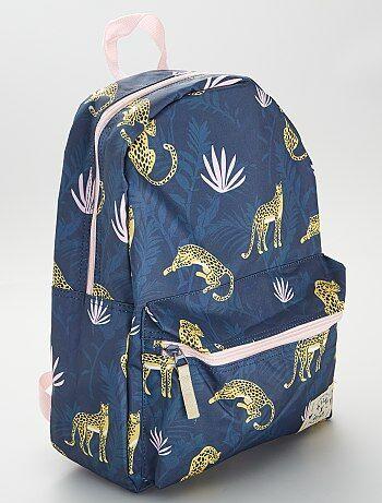 Grand sac à dos imprimé 'jungle'