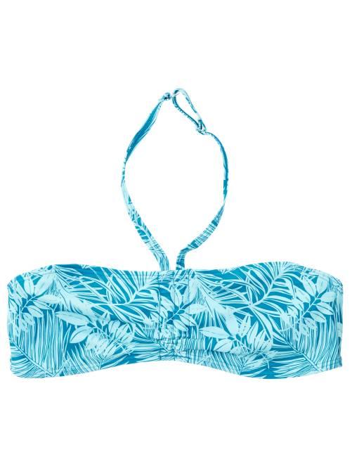 Haut de maillot de bain bandeau twisté                                                                     bleu