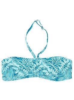 Haut de maillot de bain bandeau twisté - Kiabi