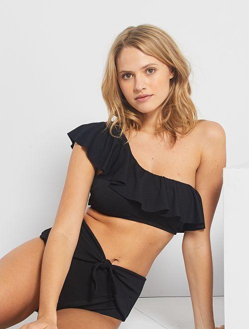 Haut de maillot de bain one shoulder                             noir