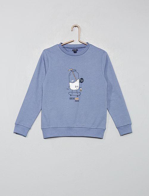 Haut de pyjama sweat                                         bleu