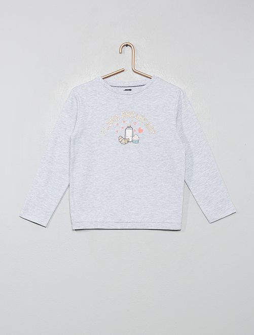 Haut de pyjama sweat                                         gris chiné