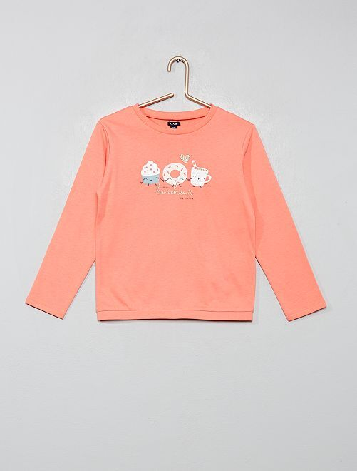 Haut de pyjama sweat                                         rose corail