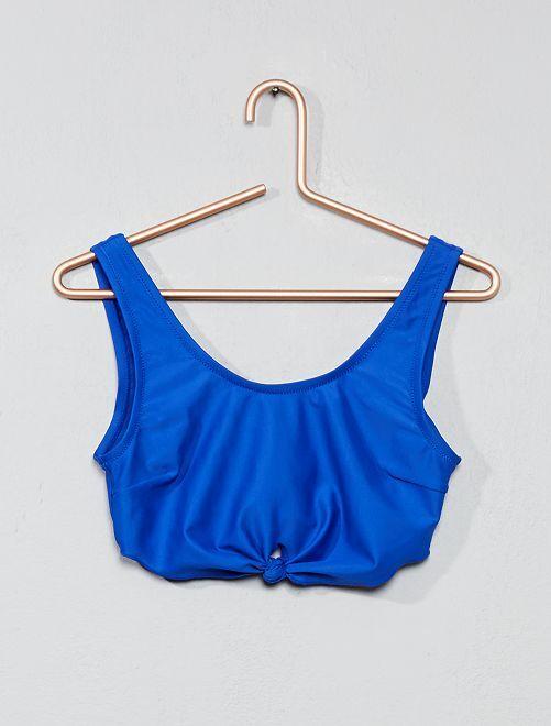 Haut maillot de bain bandeau                                         bleu