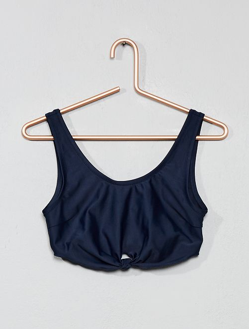 Haut maillot de bain bandeau                                         bleu marine