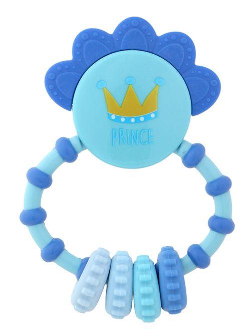 Hochet avec anneau de dentition 'Prince'                                         bleu Bébé garçon