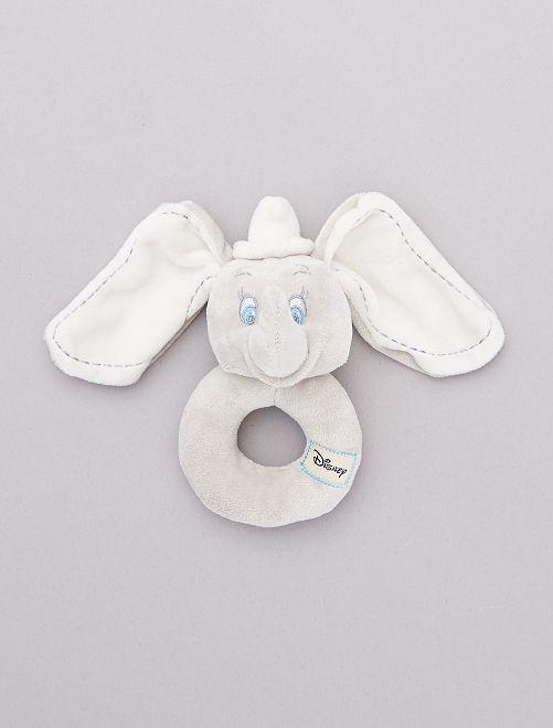 Hochet en peluche 'Dumbo'                             gris