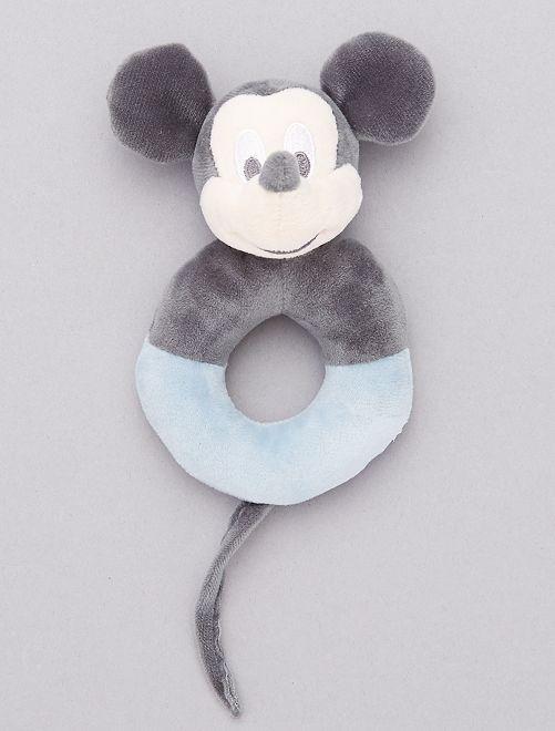 Hochet en peluche 'Mickey Mouse'                             gris/bleu ciel
