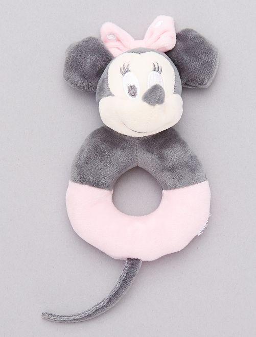 Hochet en peluche 'Minnie Mouse'                             gris/rose pâle