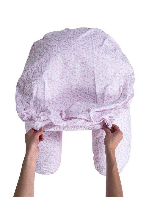 Housse charlotte pour coussin d'allaitement                     rose/fleurs