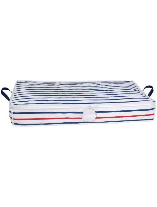 Housse de rangement                             blanc/bleu Linge de lit
