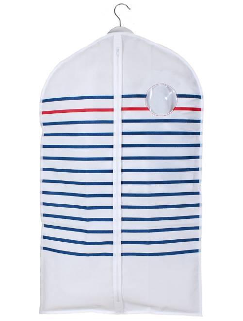 Housse de vêtement                             blanc/bleu