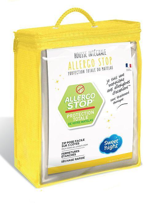 Housse pour matelas anti allergènes d'acariens                             blanc