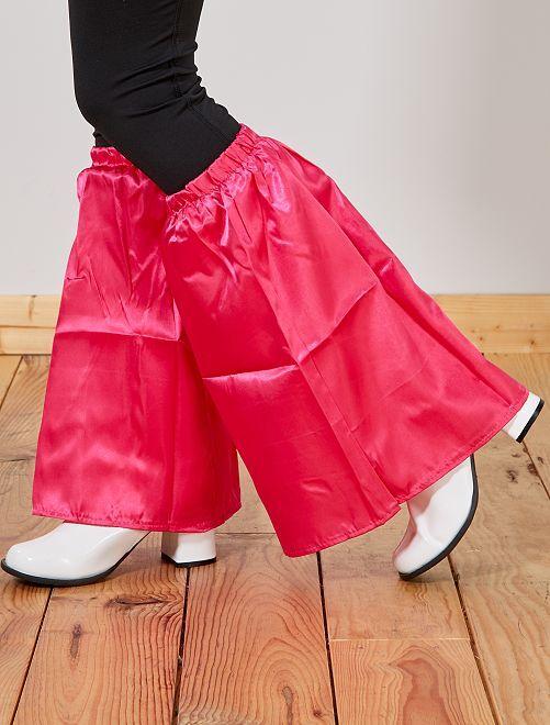 Jambière pattes d'éléphant satiné                                                     rose Femme